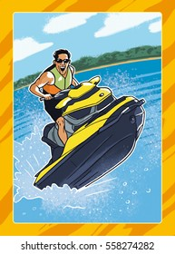 Man on watercraft