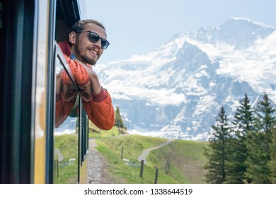 Man on the way to Jungfrau