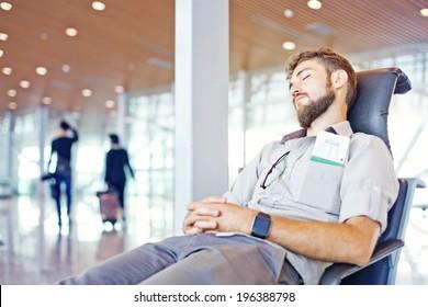 Man overslept his flight in airport