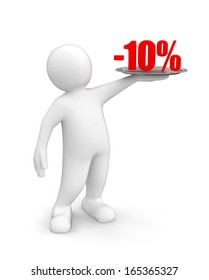 Man with Percent (clipping path included)