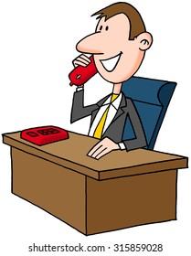 Man phoning