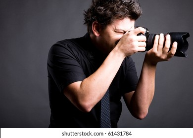 a man with photo camera