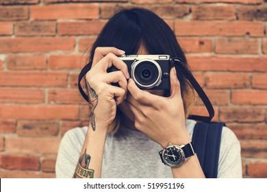 Man Photographer Traveler Lifestyle Concept