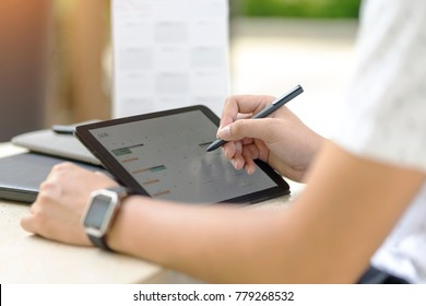 Man planning agenda and schedule using calendar event planner. Man hands using plan to vacation on laptop computer at office. Calender planner organization management reminder concept.