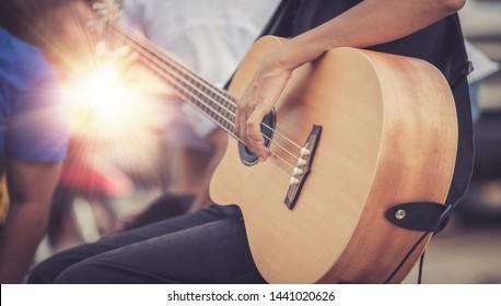 man play guitar musical jazz