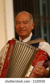 Man playing the accordion, Havana, Cuba