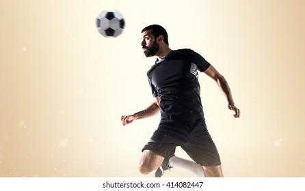 Man playing football