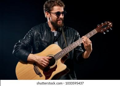 man playing guitar, pop, celebrity, performance
