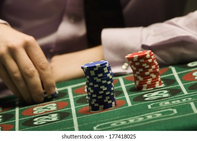 Man Playing Roulette