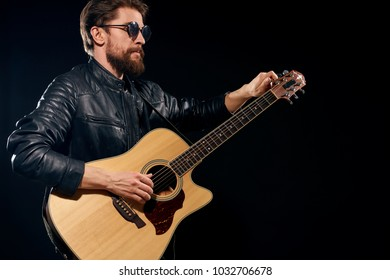 man plays guitar, musician, pop