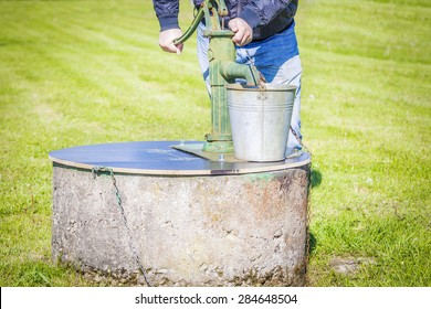 Man powered water pump