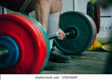 man of powerlifter squat competition deadlift