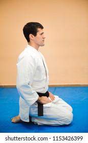 man practicing aikido
