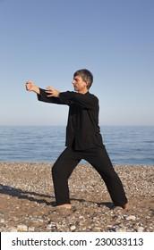 Man practicing Tai Chi  - Posture Fist