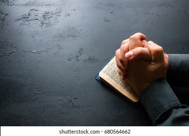 The man prays in the bible