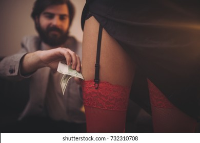 Man and prostitute