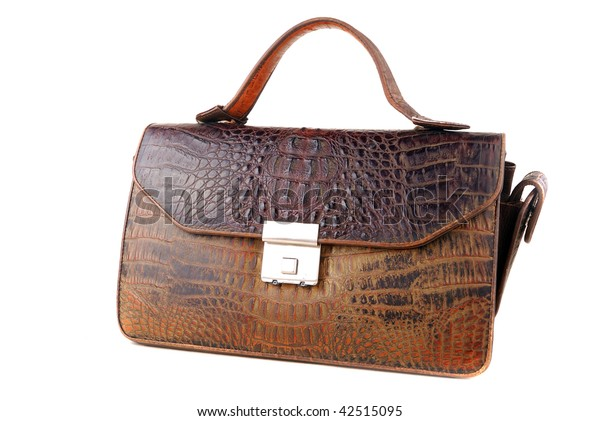 Man purse for carrying over of money and documents on a white background.