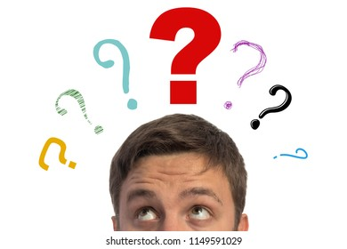 Man with a question mark