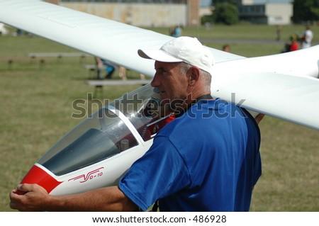Man Rcglider Plane Model Stock Photo (Edit Now) 486928