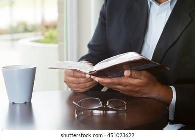 Man reading.