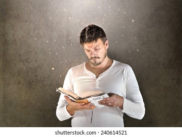 Man is Reading a Holy Scripture