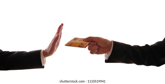 A man refuses a bribe