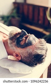Man relaxing at a beauty spa