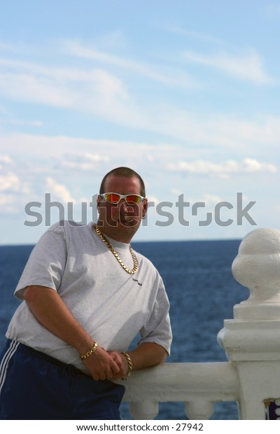 Man relaxing on holiday