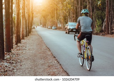 man ride on bicycle background, sport background, healthy man texture