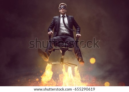 Man With Rocket Chair