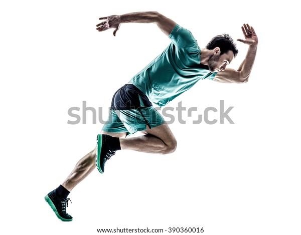 Mann Läufer-Jogger einzeln laufen