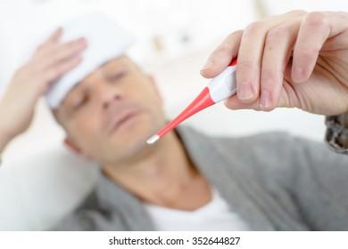 Man running a fever