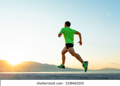 Man  running in the morning.Active sports lifestyle