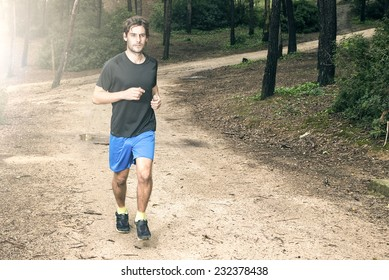 Man running in the park
