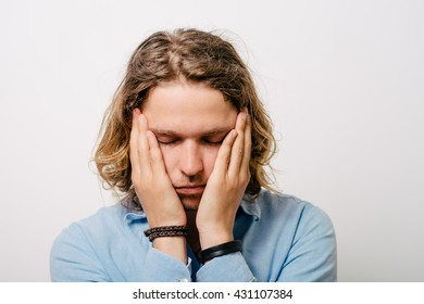 The man is sad