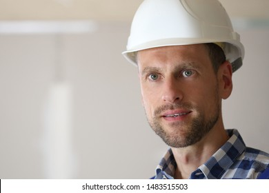 A Man with safety helmet in portrait