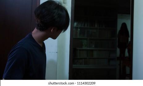 A man saw thai lady ghost