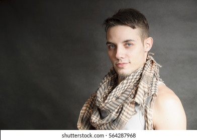man with a scarf