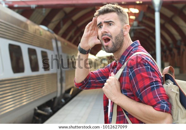 Man screaming after losing his train