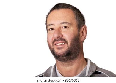Man with a scruffy beard