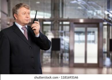 Man security system guard
