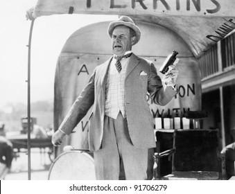 Man selling elixir