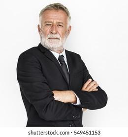 Man Serious Studio Portrait Concept