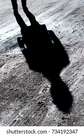 Man shadow. Mysterious.