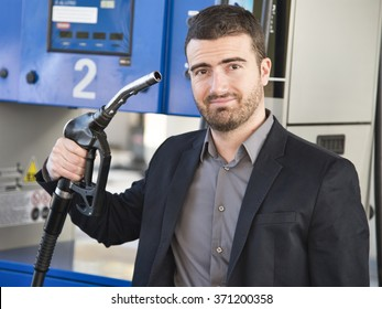 A man shooting himself for petrol prices