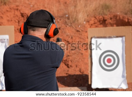 Man shooting at a