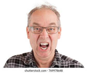 Man is shouting about something