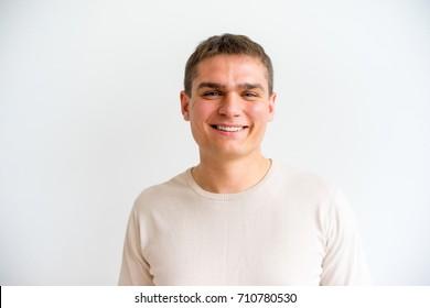 Man showing emotions