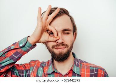 man showing okay gesture