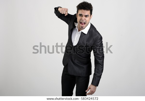Man showing a punch